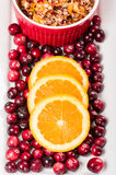 Overhead of cranberry relish with cranberries Stock Photos