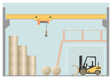 Overhead crane Royalty Free Stock Photos