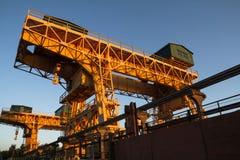 Overhead cranes Stock Images