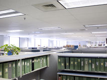 Overhead cubicles Royalty Free Stock Image