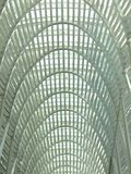Overhead Curves. Curves in a skylight royalty free stock photo