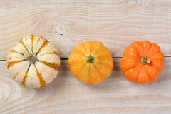 Overhead Decorative Pumpkins Stock Photos