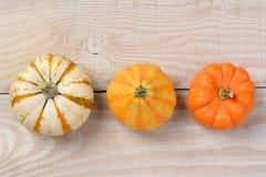 Overhead Decorative Pumpkins Stock Photos