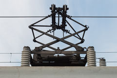 Overhead electric of train Royalty Free Stock Photos