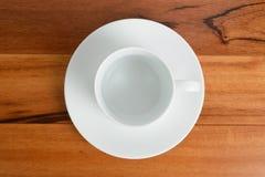 Overhead Empty White Mug Stock Images