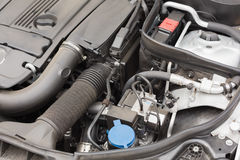 Overhead of engine in bonnet Stock Photo