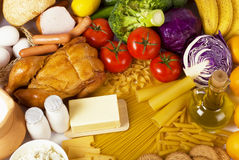 Overhead food background Royalty Free Stock Image