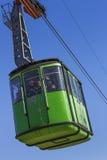 Overhead green cable car cabin Royalty Free Stock Photos