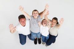Overhead of happy family Royalty Free Stock Photo
