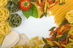 Overhead Italian pasta Royalty Free Stock Photo