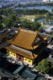 Overhead Jiangtian Temple Royalty Free Stock Photo