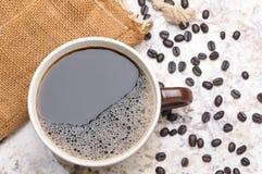 Overhead of Large Coffee Mug Stock Photos