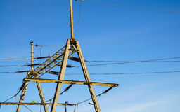 Free Overhead Line Wire Over Rail Track. Power Lines. Stock Images - 54520704