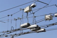 Overhead lines Stock Image