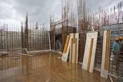 Overhead metro construction in Bangalore Royalty Free Stock Photo