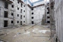 Overhead metro construction in Bangalore Stock Image