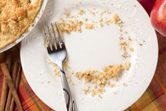 Overhead of Pie, Apple, Cinnamon, Copy Space Stock Photo