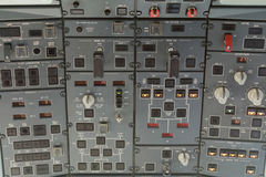 Overhead plane control panel Royalty Free Stock Photos