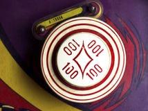 Overhead of 100-point bumper on retro pinball machine Royalty Free Stock Photo