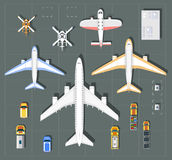 Overhead   point of view airport Stock Photos
