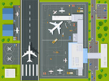 Overhead   point of view airport Stock Photo