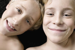 Overhead Portrait of Brothers. Stock Photos