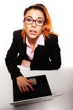 Overhead portrait of a young businesswoman Stock Photos