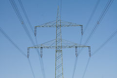 Overhead power line Royalty Free Stock Photos