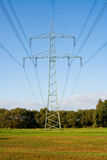 Overhead power line Stock Photography