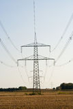 Overhead power line Stock Image