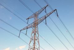 Overhead power line Stock Images