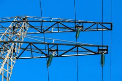 Overhead Power Line, Electricity, Electrical Supply, Structure royalty free stock photos