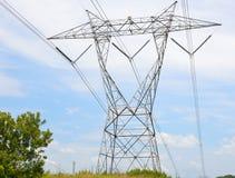 Overhead power line Stock Image