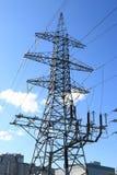 Overhead power line Royalty Free Stock Photo