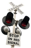Overhead Railroad Crossing Stock Image