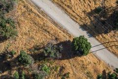 Overhead of Savanna Through Road Stock Images