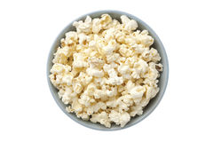 Overhead shot. Of a bowl with popcorn Stock Photography