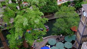 An overhead shot of a busy day in San Antonio stock video footage