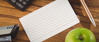 Overhead shot of flashcard Royalty Free Stock Photos