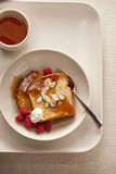Overhead shot of French toast. Delicious image of French toast Royalty Free Stock Images