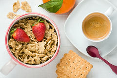 Nourishing Breakfast Top View Stock Images