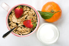 Healthy Breakfast Top View Stock Image