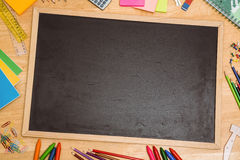 Overhead shot of pupils desk Stock Photos