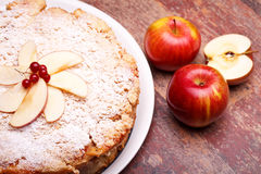 Overhead Shot Of Sour Apples Cake Royalty Free Stock Images