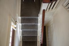 Overhead shot of staircase royalty free stock photography
