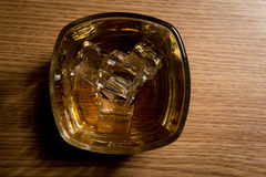 Overhead shot of whiskey Stock Photos