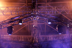 Overhead stage lights Royalty Free Stock Photos