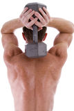 Overhead tricep extension. royalty free stock images