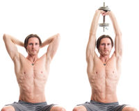 Overhead Triceps Extension Royalty Free Stock Images