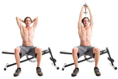 Overhead Triceps Extension Royalty Free Stock Photos